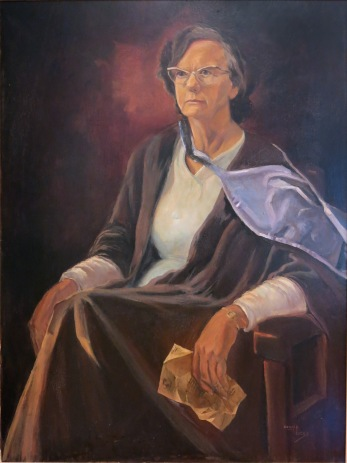 Betty painted by Rev Donald Begbie (Abbotsleigh parent, School Chaplain, member of School Council), 1969, the School's official portrait.  Abbotsleigh Archives, reproduced with permission.
