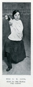 Lady Fencer Miss G M Davis - 3rd place in Hutton Cup Contest